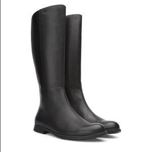 Camper Knee High Black Leather Boots, Worn ONCE